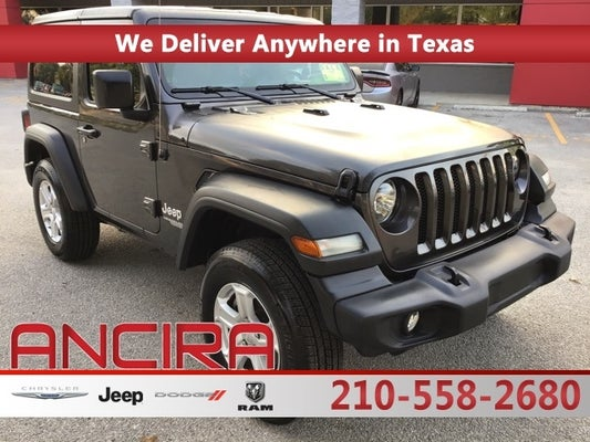 used 2020 jeep wrangler for sale in san antonio tx l ancira used 1c4gjxan1lw203561 2020 jeep wrangler sport